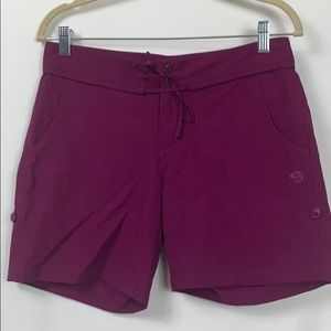 Mountain Hard Wear plum colored shorts size 6